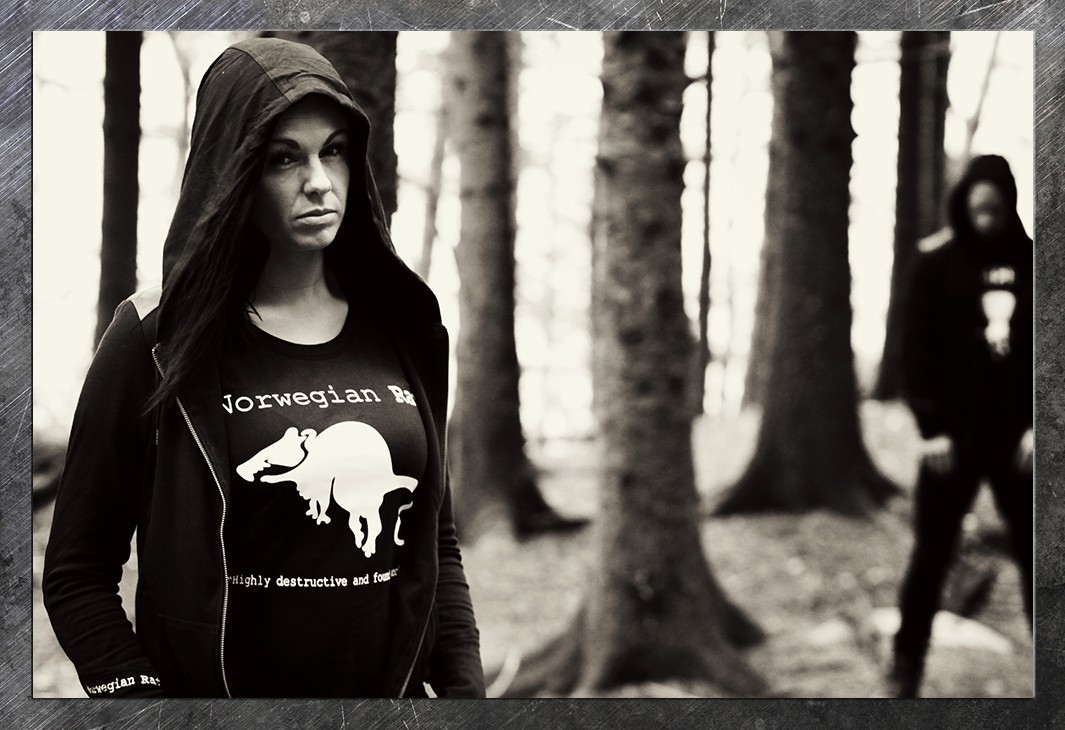 Our Skakke hoodie and black Theodore Ratatosk logo tee