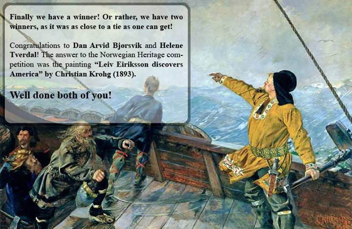 Leiv Eiriksson discovers America